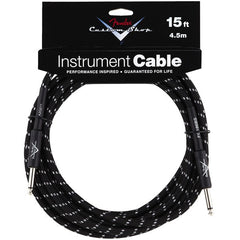 Fender Custom Shop Instrument Cable in Black Tweed - 15ft