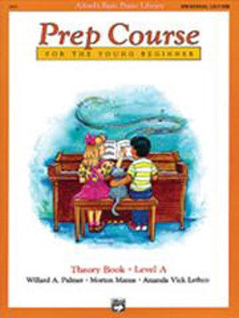 Alfred's Basic Piano Prep Course - Theory Book - Level A
