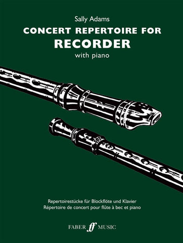 Concert Repertoire For Recorder - Sally Adams - Recorder