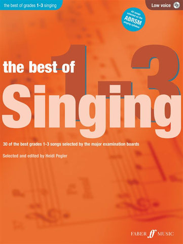 The Best of Singing Grades 1-3 - Low Voice (with CD)