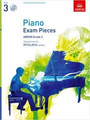 ABRSM Piano Exam Pieces 2015-2016 - Grade 3 (with CD)