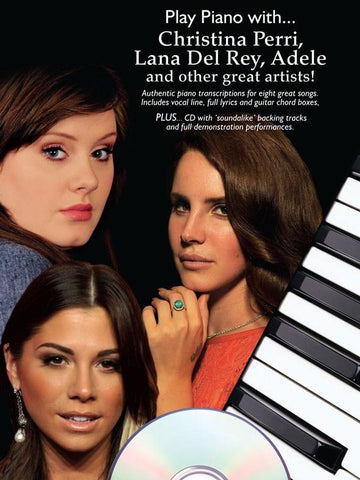 Play Piano with...Christina Perri, Lana Del Ray, Adele + Other Great Artists - PVG (with CD)