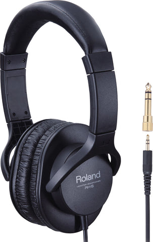 Roland RH-5 Full Size Stereo Headphones (Closed Type) - Black