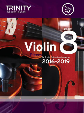 Trinity Violin Exam Pieces - Grade 8 2016-2019 - Violin + Piano (with CD)