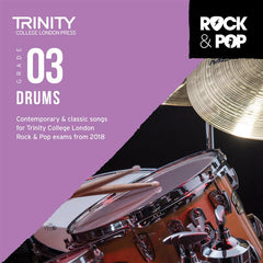 Trinity Rock + Pop Exams: Drums Grade 3 (from 2018) - CD Only