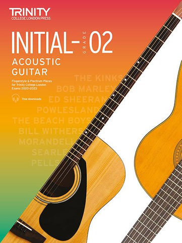 Trinity College London Acoustic Guitar Exam Pieces 2020?2023: Initial - Grade 2