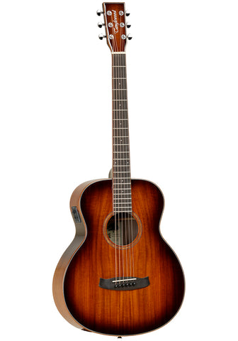 Tanglewood Winterleaf Exotic Travel Folk Size Electro Acoustic Guitar - Solid Koa