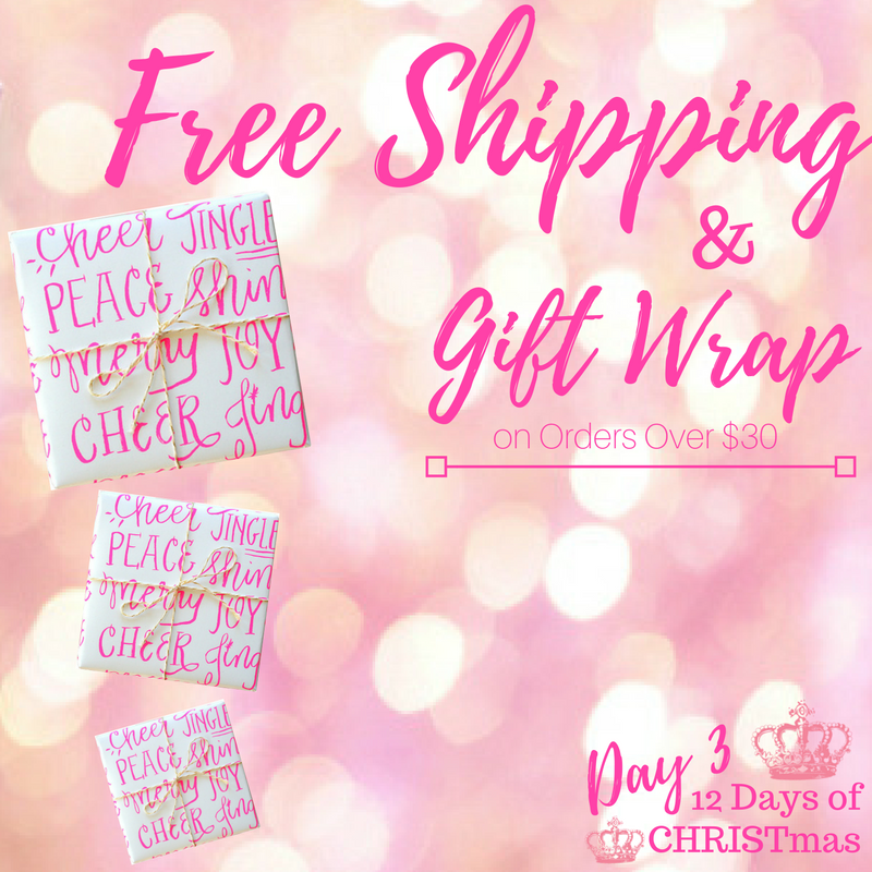 Day 3!  Free Shipping & Gift Wrap!