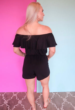 BEST LIFE ROMPER-BLACK
