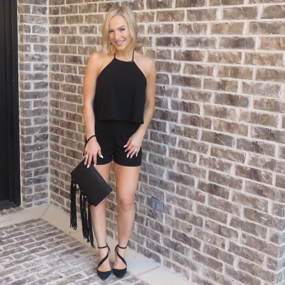 The Blogger Romper - Black