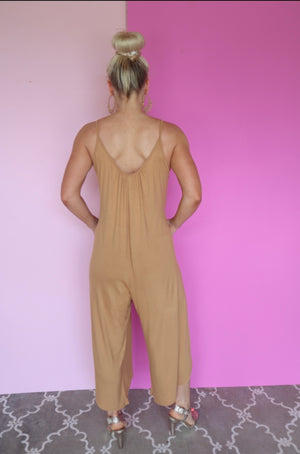 CHASING DREAMS JUMPSUIT mustard