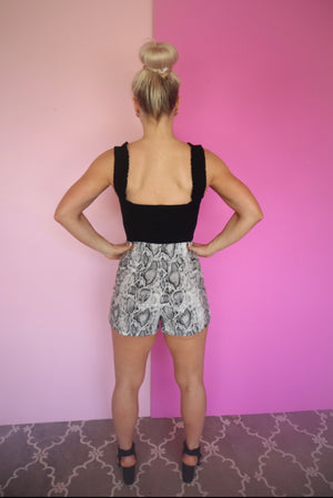 SPIKED AND SPARKLING skort