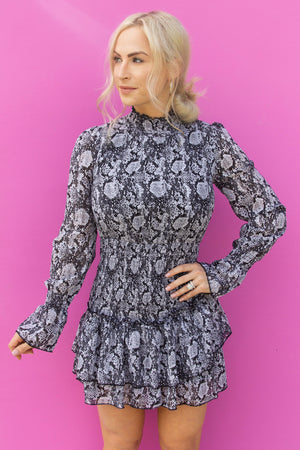 APPLE OF MY EYE DRESS-BLACK AND WHITE