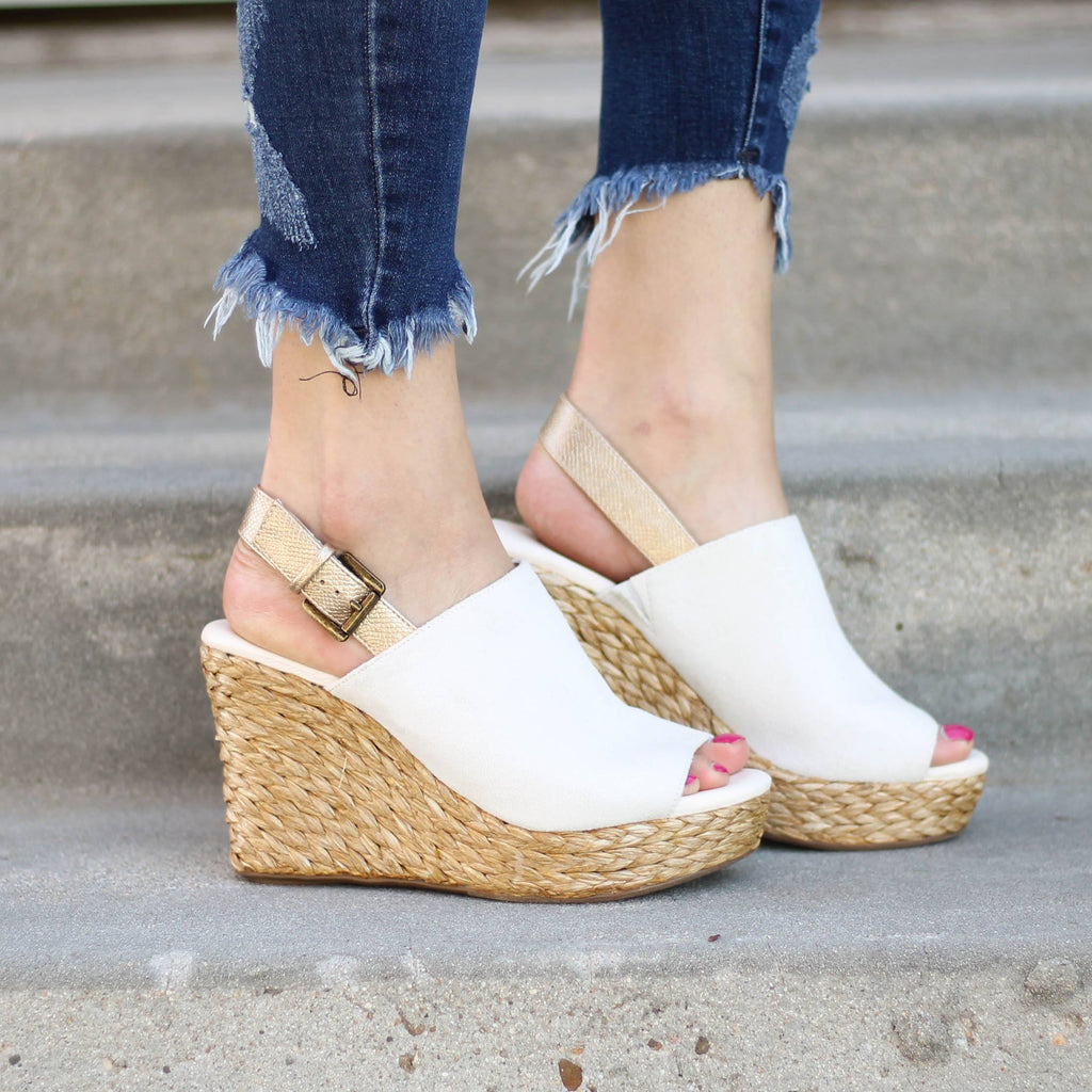 Matisse Fricso Wedge in Ivory