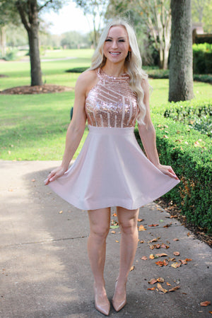 Party Hour Rose Gold Dress
