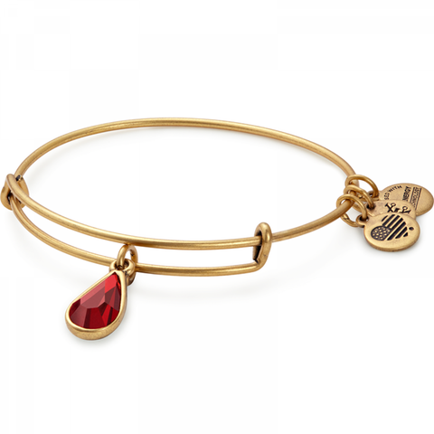 January Garnet Birthstone Swarovski Bangle