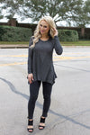 Gray Bedazzled Tunic