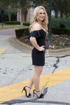 Black Off Shoulder Little Black Dress