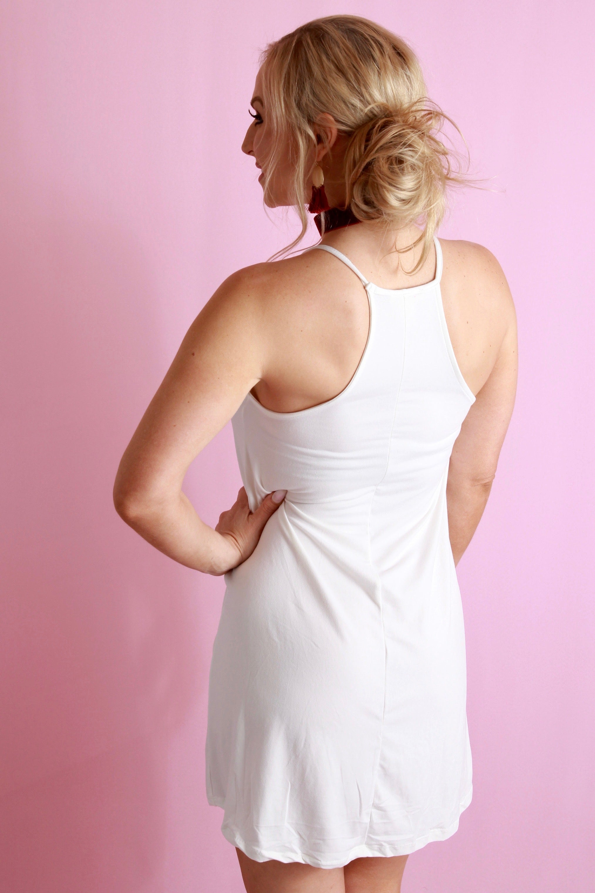 Simply Shift Dress - White