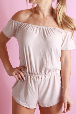 Simply Stylish Romper - Taupe