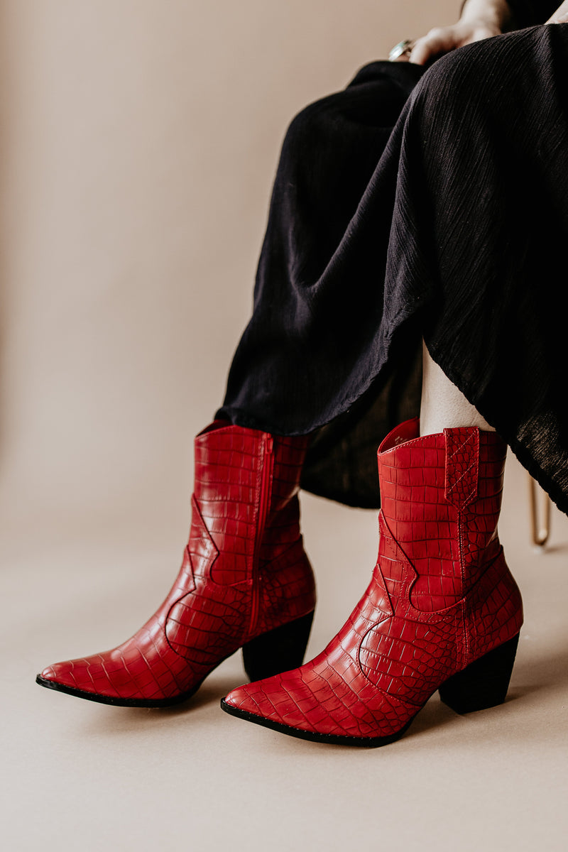 Matisse Bambi Booties in Red