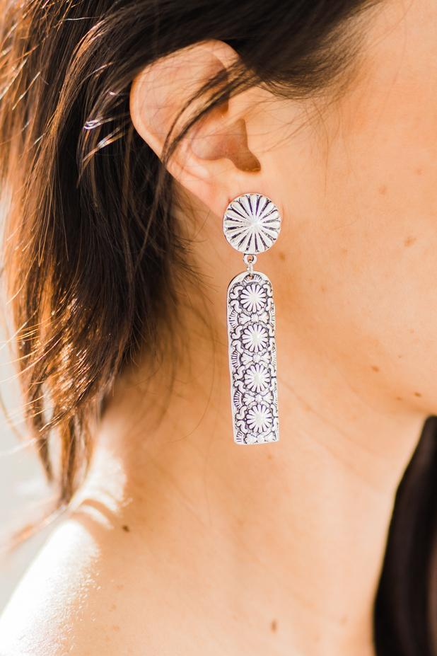 Floral Stamped Earring