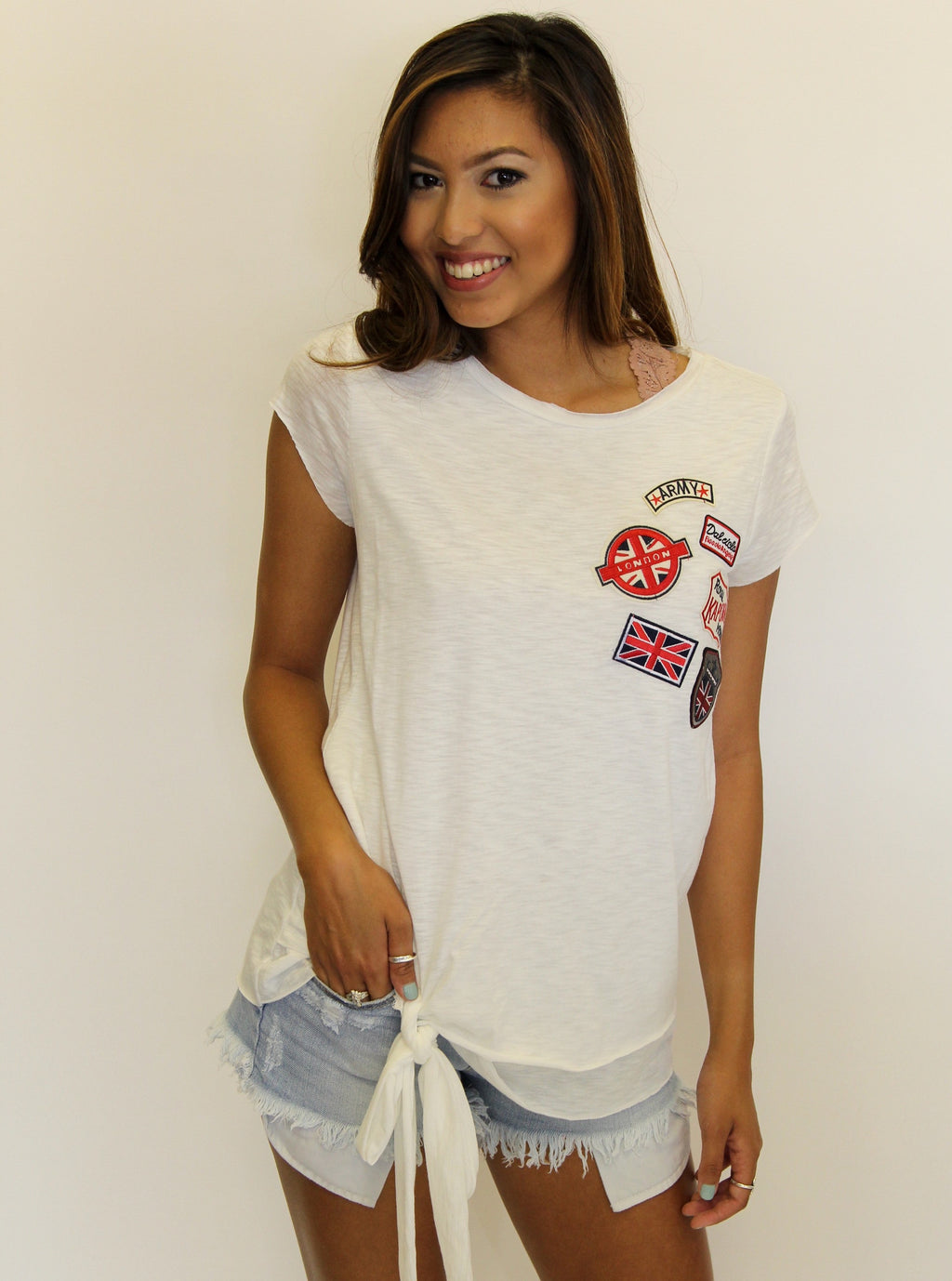 Army Patch Slub Tee