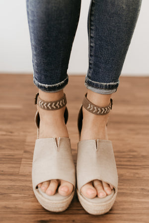 Not Rated Leif Wedge in Taupe