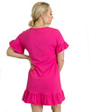 Bright pink t-shirt dress