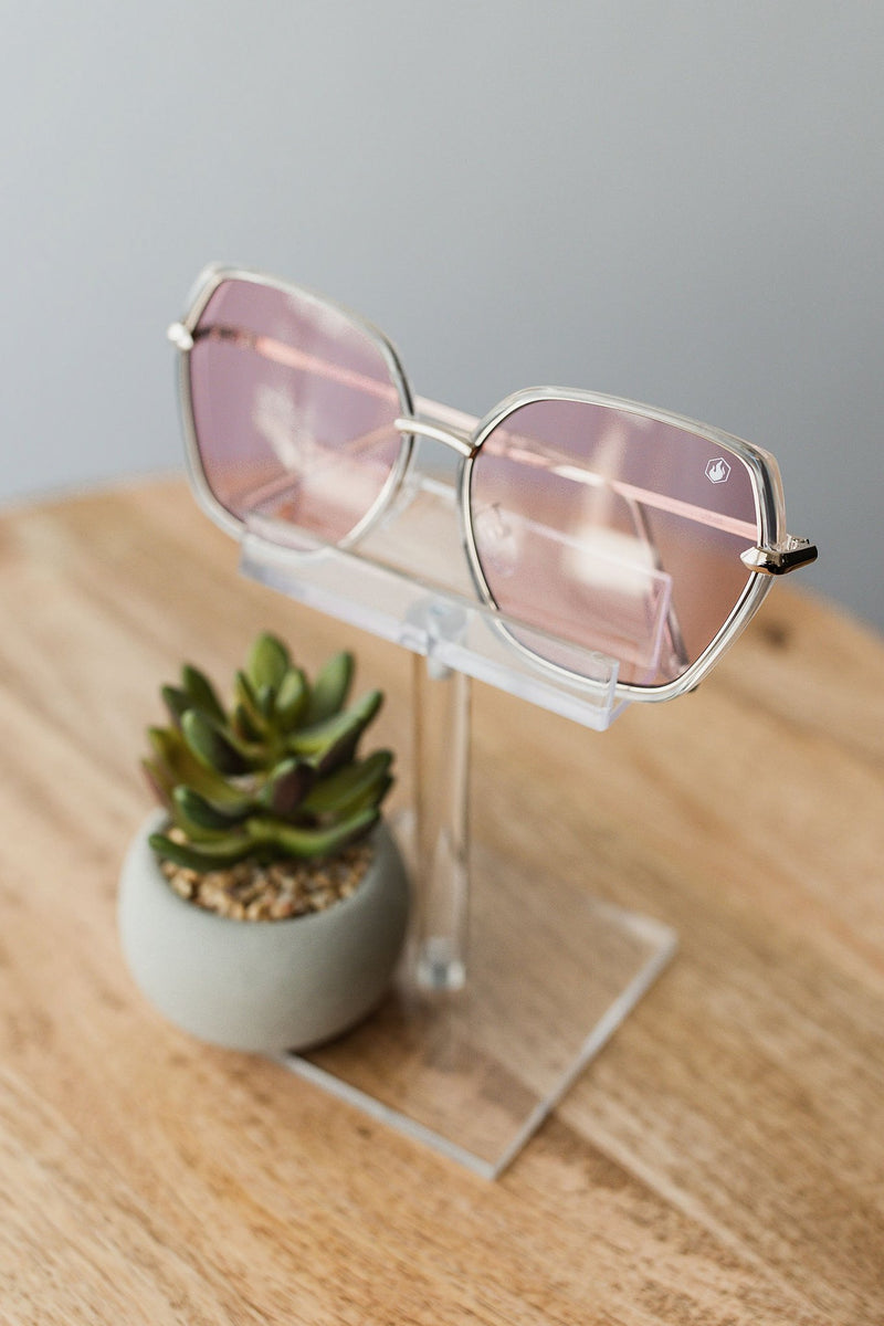 American Bonfire Vibes Sunglasses in Pink
