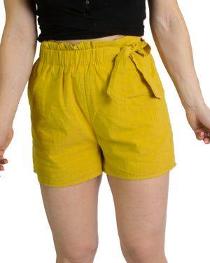 Side tie shorts