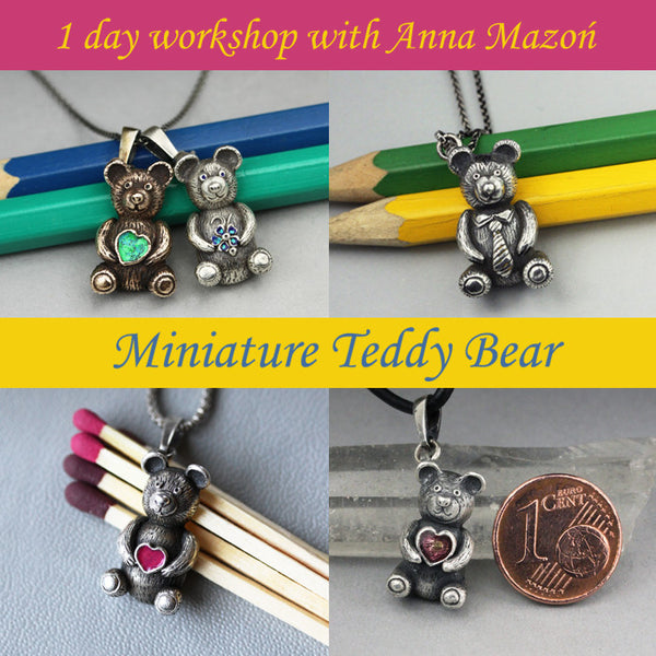 Miniature Teddy Bear Pendant with Anna Mazon