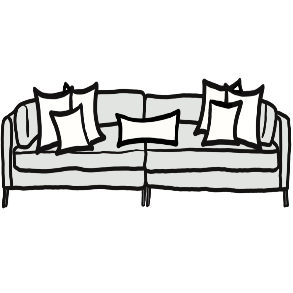 Pillow Size Guide For Deep Sofa