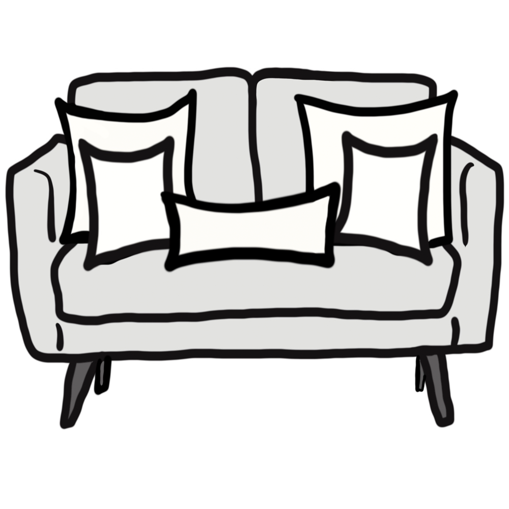 Pillow Size Guide for Loveseat