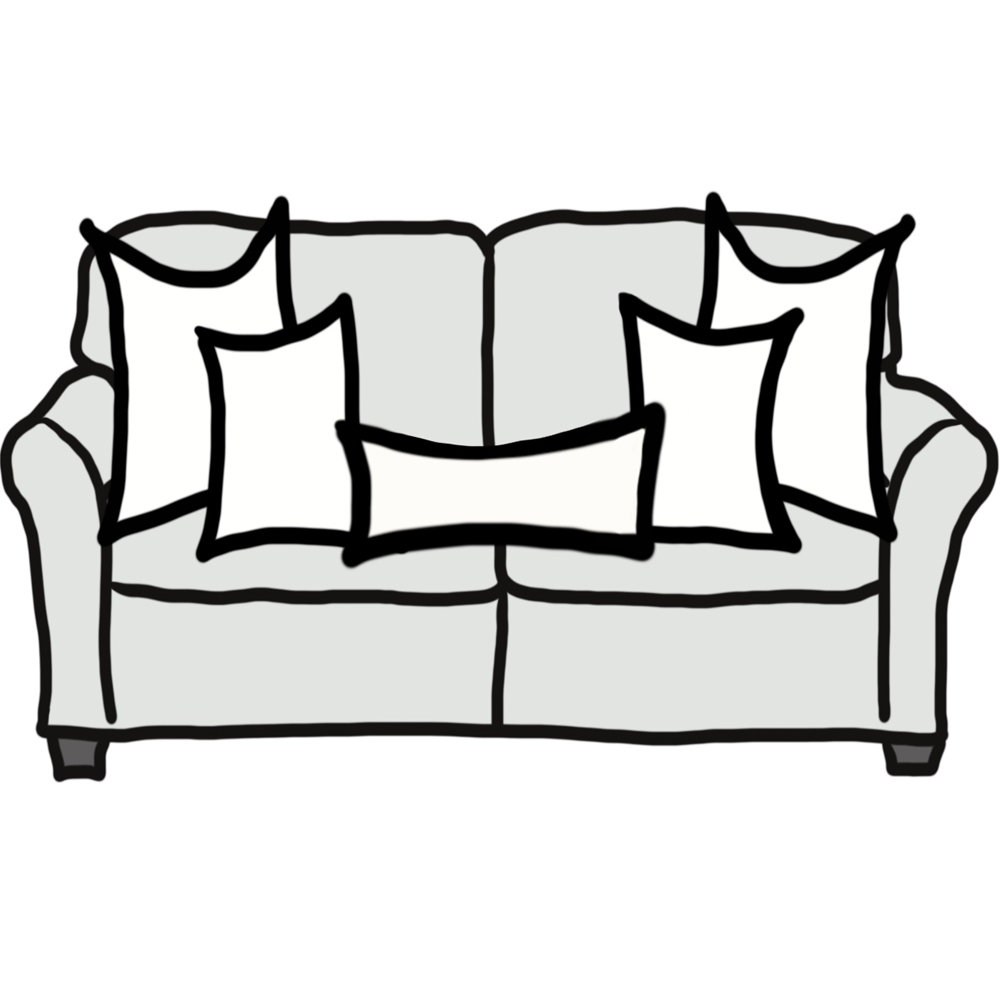 Pillow Size Guide For Standard Sofa