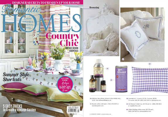 Urban Gingham Reversible Pillow in Purple as seen in Romantic Homes - 2015