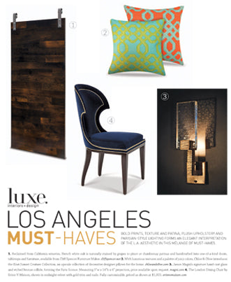 Kiwi Sunset Reversible Pillow as seen in Luxe. Interiors + Design - May/2013