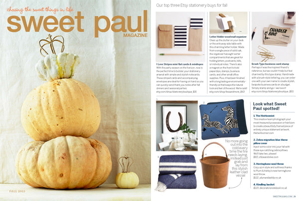 Zebra Migration Blue Decorative Pillow as seen in Sweet Paul - Fall 2015