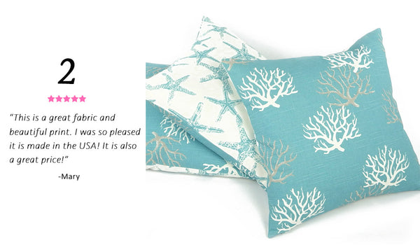 Best Selling Beach Throw Pillow - Wonders of the Sea Turquoise Reversible Pillow