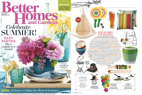 Chloe and Olive Floral Pop Reversible Outdoor Throw Pillow as seen in Better Homes and Gardens June 2016