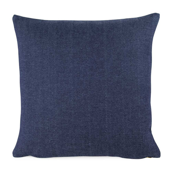 Chey Herringbone Blue Designer Throw Pillow Cover