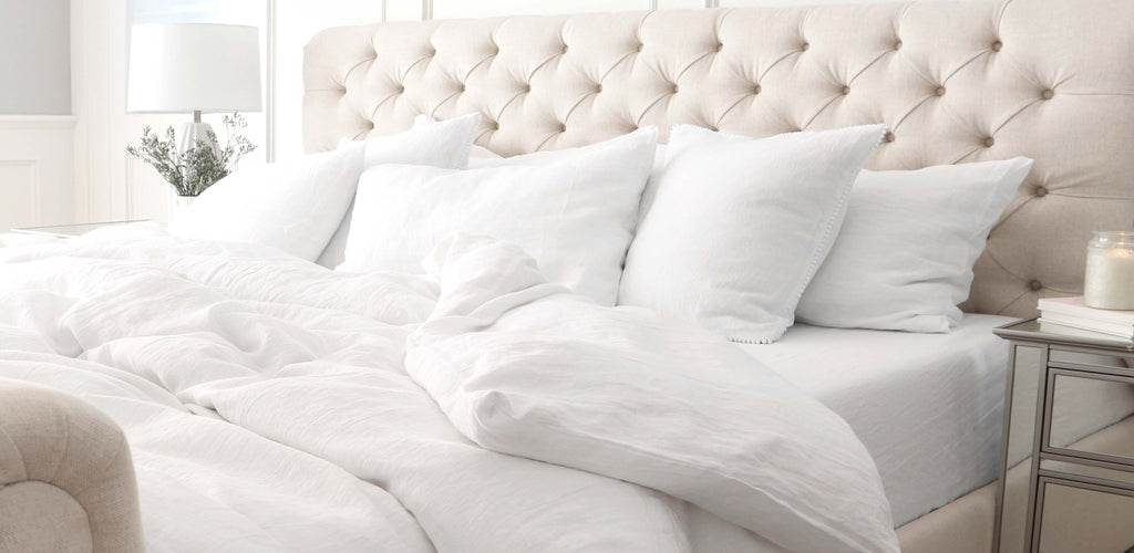Chloe and Olive White Linen Bedding