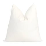 Cleary Solid White Designer Throw Pillow Cover