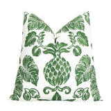 Hawaiian Green Pineapple Designer Throw Pillow Cover by Chloe and Olive