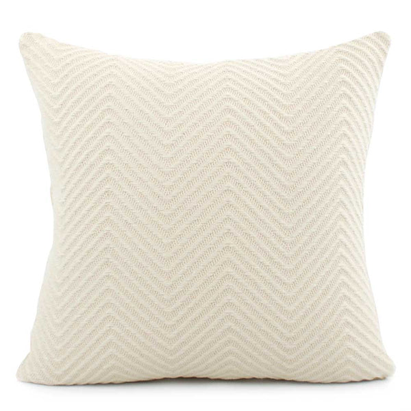 Infinity Cream Designer Throw Pillow Cover