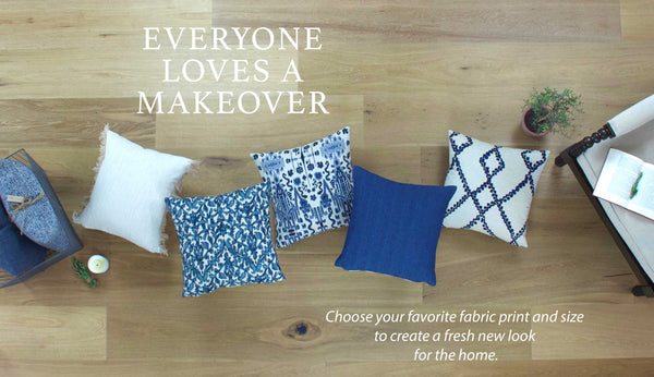 Everyone loves a home decor makeover with throw pillows by Chloe and Olive