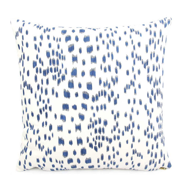 Brunschwig & Fils Les Touches Blue Designer Throw Pillow Cover