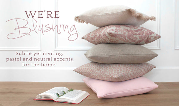 We're Blushing Throw Pillow Covers