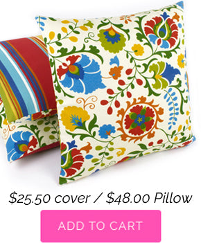 Floral Pop Outdoor Decorative Pillow
