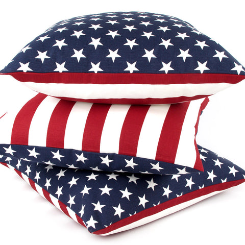 American USA Flag Reversible Decorative Pillow by Chloe and Olive